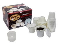 Disposable Cups for Use in Keurig Brewers - Simple Cups - 50 Cups