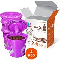 Eco4Cup 2.0 Reusable Cup for Keurig 2.0 - K300, K400, K500 Series and All Keurig 1.0 Series - 4 pcs