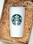 Starbucks Coffee Double Wall Ceramic Travel Mug Cup