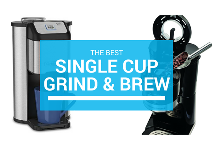 single cup grind and brew coffee machines