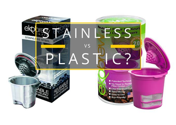 ekobrew stainless steel vs plastic