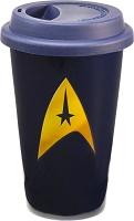 Vandor 80351 Star Trek 12 oz Double Wall Ceramic Travel Mug with Silicone Lid