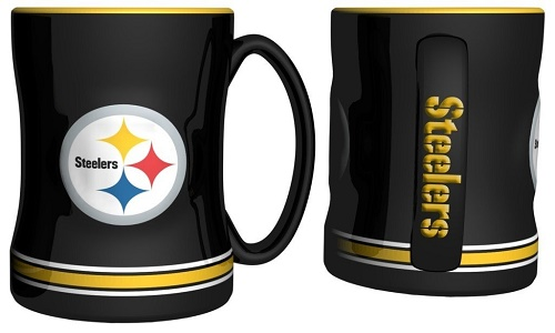 Pittsburgh Steelers 15 Ounce Sculpted Logo Relief Coffee Mug